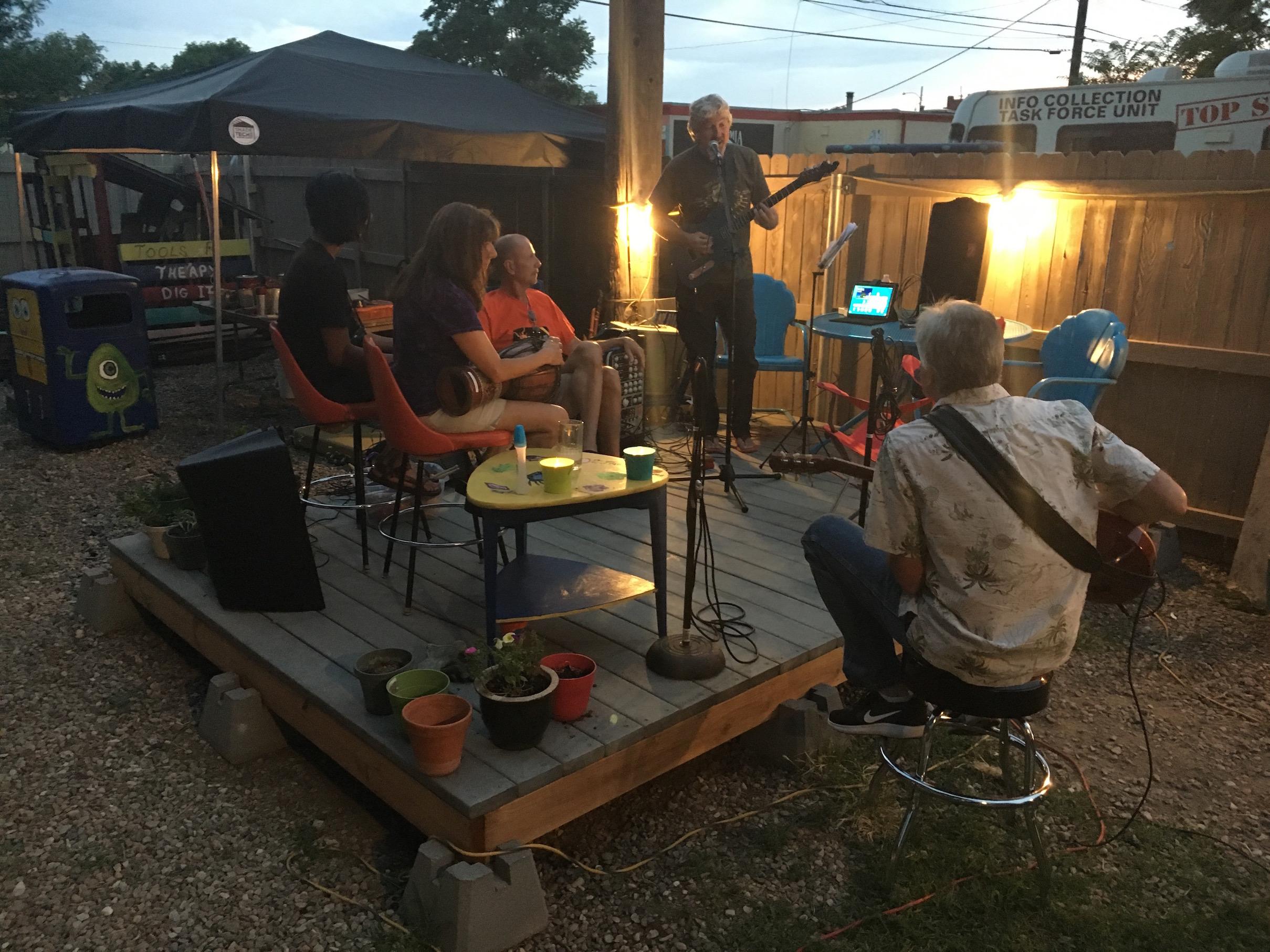 backyard activities music jam pueblo house 1160