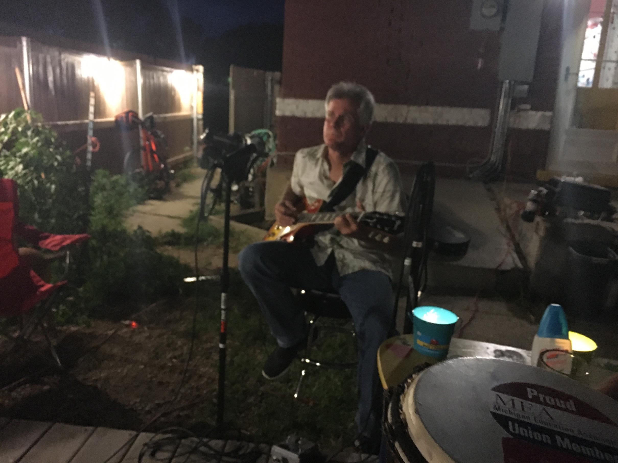 backyard activities music jam pueblo house 1163