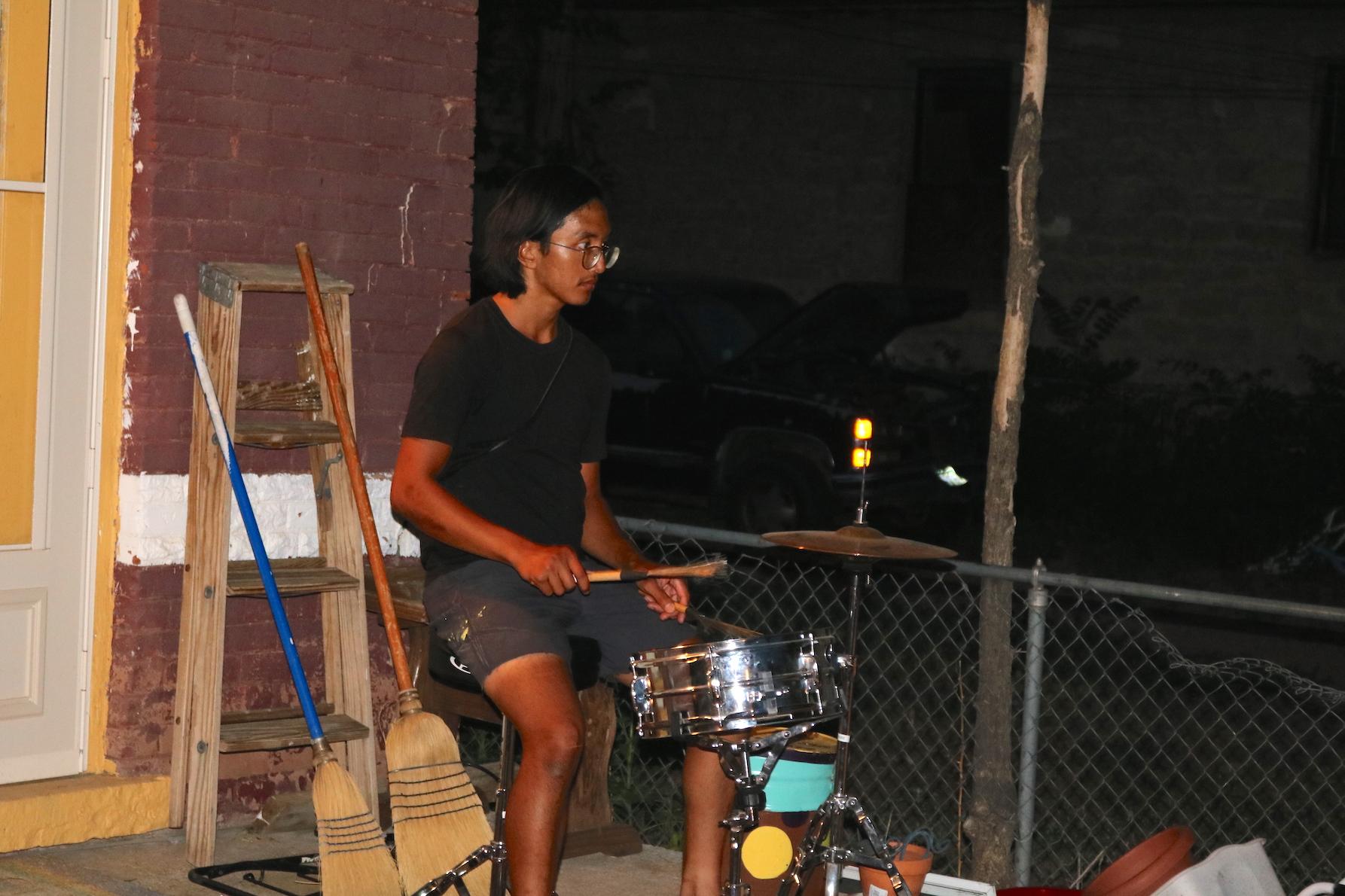backyard activities music jam pueblo house karl ing from atlanta
